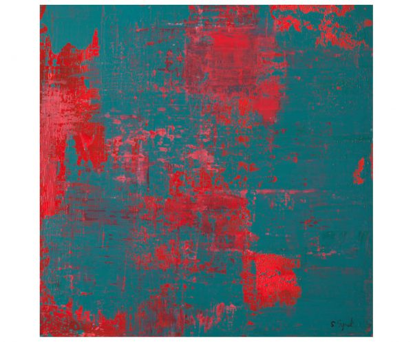 Red on Turquoise - ART_2021_1_SSY_033_1