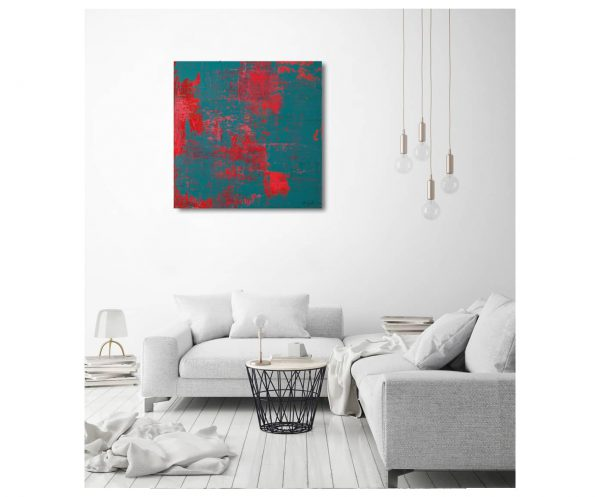 Red on Turquoise - ART_2021_1_SSY_033_2