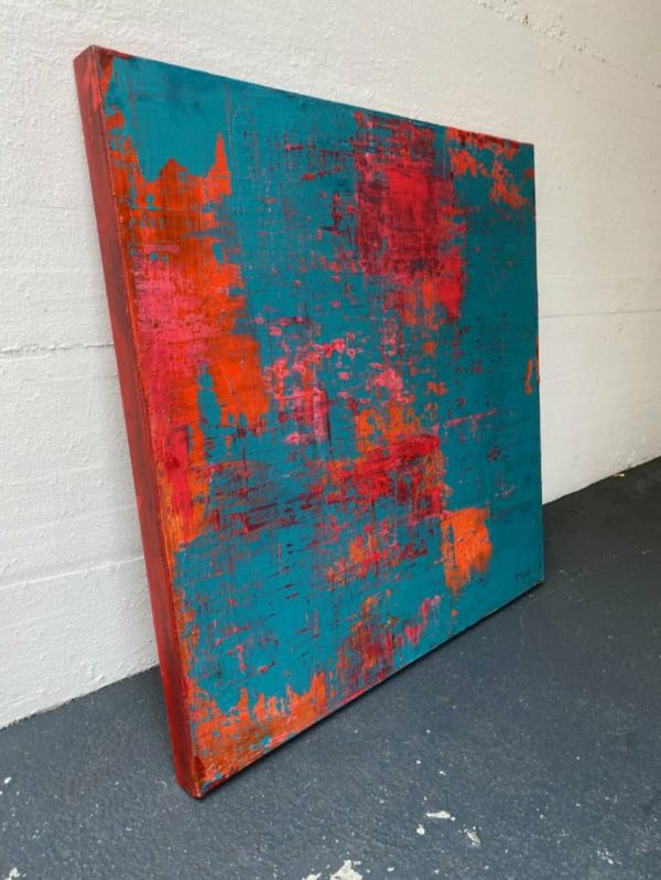 Red on Turquoise - ART_2021_1_SSY_033_3
